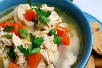 Hearty Chicken Noodle Soup with Egg Noodles