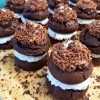 Chocolate Moon Pie Cakes with Chocolate Almond Icing