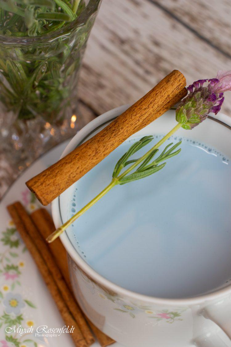 Lavender and Blue Bedtime Superfood Milk