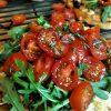Caramelized Red Onion and Arugula Flatbread Pizza