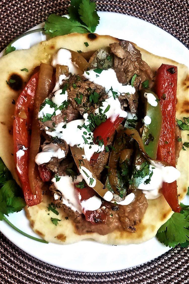 Grilled Flank Steak Fajitas