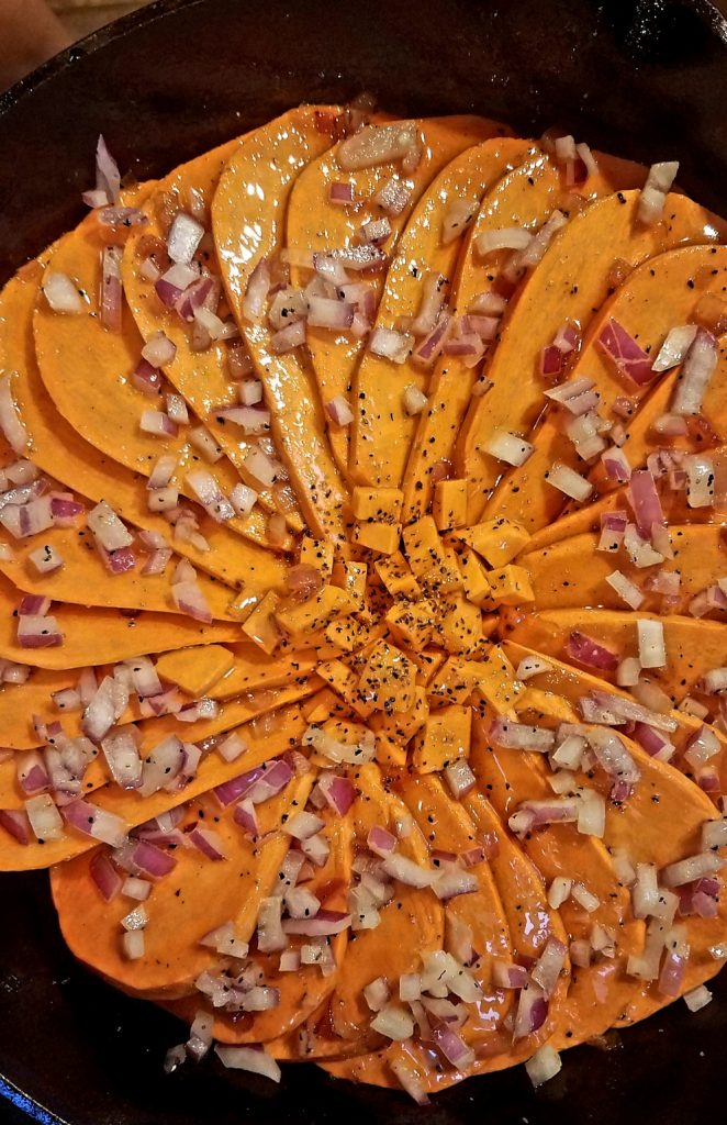 Rustic Sweet Potato Pommes Anna