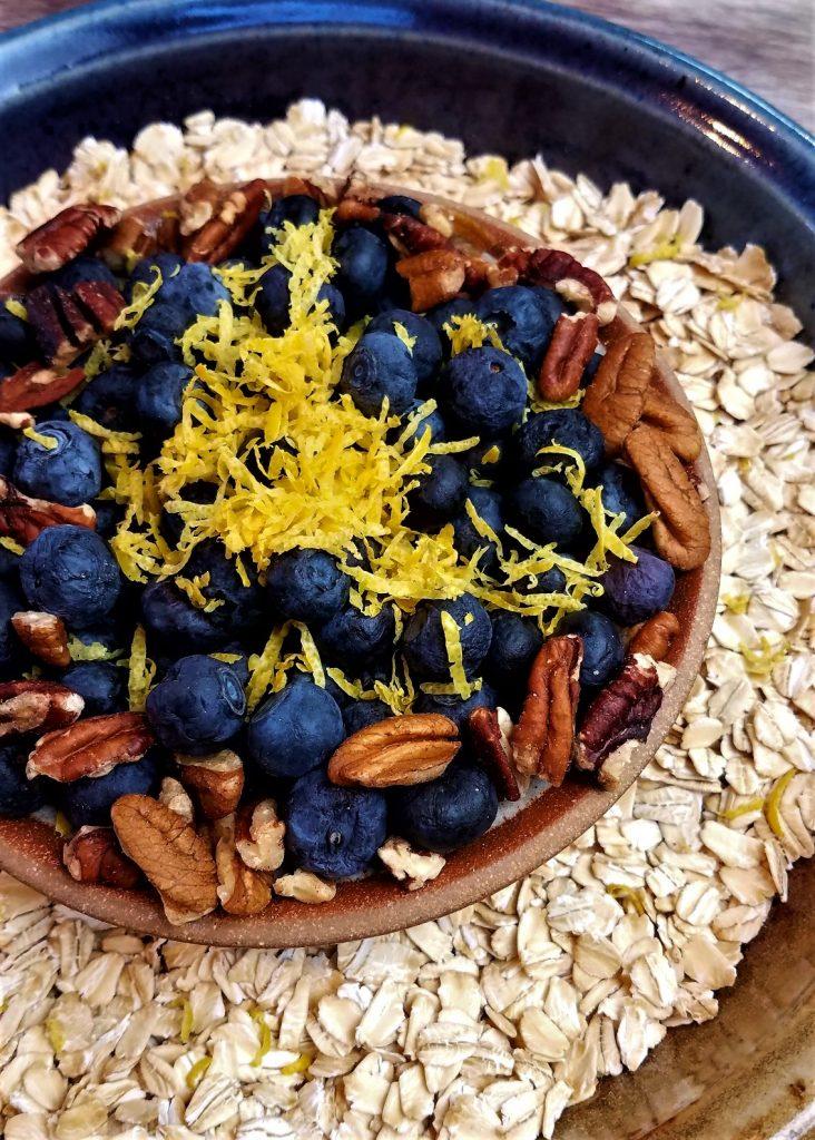 Blueberry and Lemon Baked Oatmeal